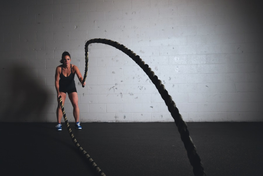 Battle-Rope Ausdauertraining